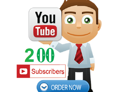Add 200 subscribers for your Youtube Channel
