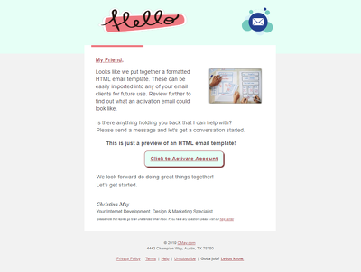 Create an HTML email for your personal or business use