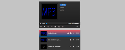 Make audio player using Jquery/Javascript and HTML5 for $20