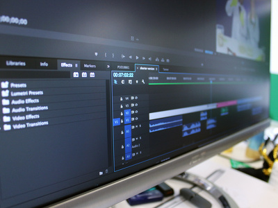Professionally edit your footage into a video