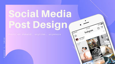 Design 9 professional social media posts for your business