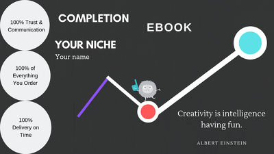 Write and Design your Ebook and Ebook cover of your niche