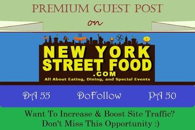 Place A DoFollow Guest Post on NewyorkStreetFood.com - DA 55
