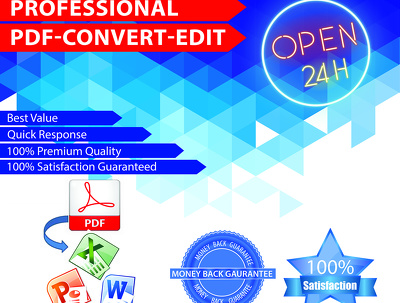 Convert PDF to word, excel, PowerPoint25 pages