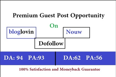 Write And Make Live Guest Post On 2  Dofollow Site