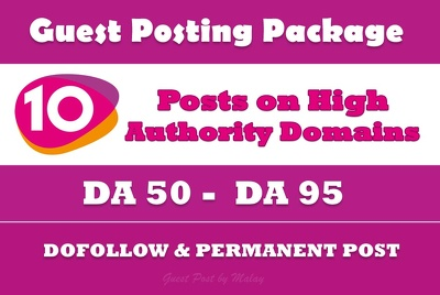 guest Post Package - 10 Posts on High Authority Websites - DA50+