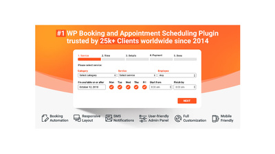 Add Booking System on your Wordpress Website