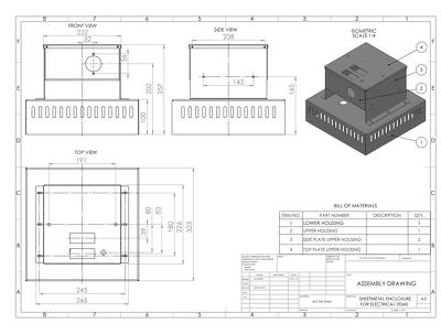 SHEET METAL ENCLOSURE:MODEL,DESIGN-DRAWING,DXF FOR LASER CUTTING