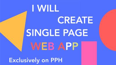 single page web app