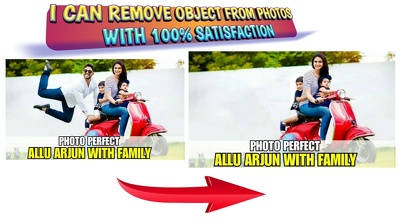 Remove Any Object, Add Logo Water Mark Image