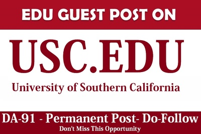 Guest post on California Edu Blog - usc.edu - DA 91