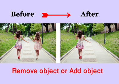 Remove object and add object your images