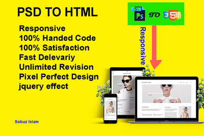 Psd To Html Responsive witg bootstrap for 1-2 page