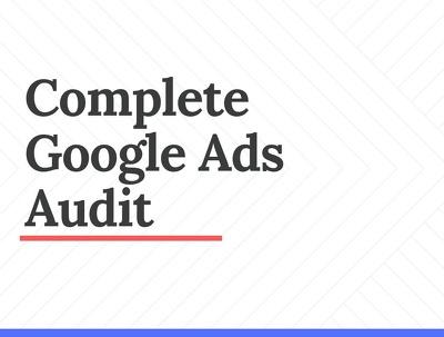 Complete Adwords Audit