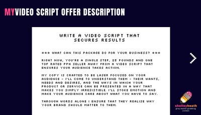 Write a video script that secures results (250 Words - 2 Mins)