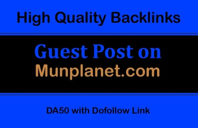 Publish Guest Post on Munplanet.com, with a Dofollow Link,