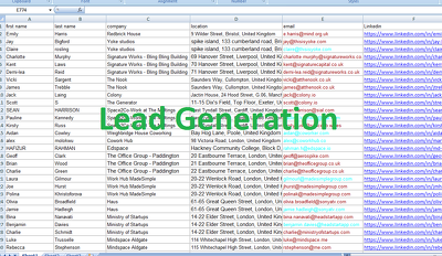 Create any Business Leads With Contact Information