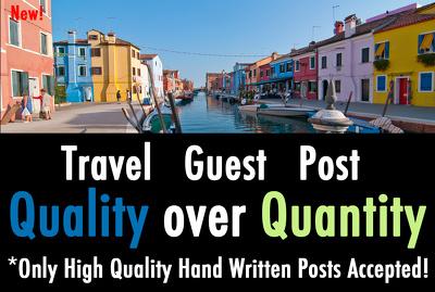 Publish a Guest post on Travelblog.org DA76 Dofollow backlink