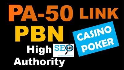 PBN PA 50 High Authority Backlinks for Casino Poker & Gambling
