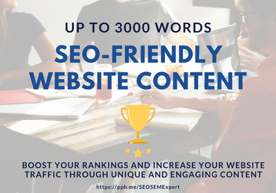 Write 3000 word SEO friendly content for your website