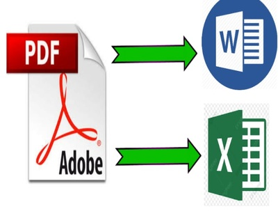 Convert PDF to word or excel professionally