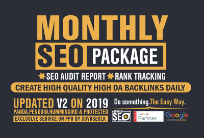 Power monthly SEO links package - Top SEO link building Rankings