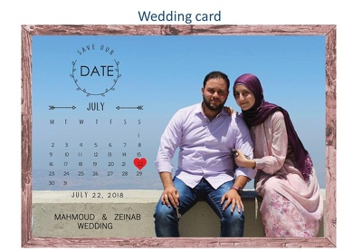 Design birthday or wedding card