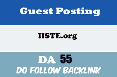 Publish guest post on iiste- iiste.org DA 55