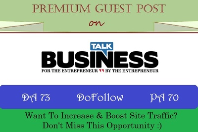 Guest post on Talk-business.co.uk business website - DA 45