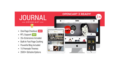 Install OpenCart, Journal theme with customization theme for you