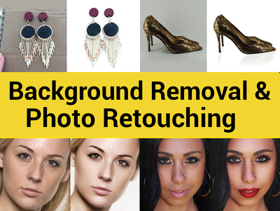 Do background removal and photo retouching