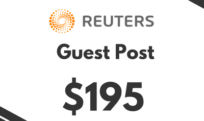Guest Post on REUTERS , 2 Permanent do follow backlinks