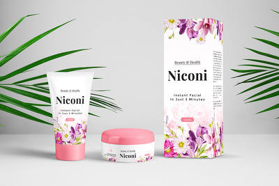 Design a creative beauty product label with unlimited revisions