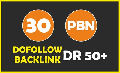 Build 30 PBN Backlinks on DR 50+ High Authority Domain