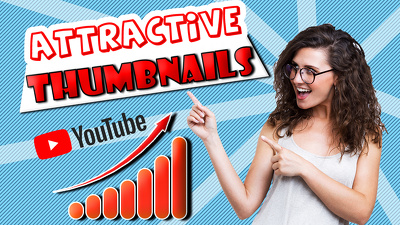 Design an attractive youtube thumbnail for your video with PSD