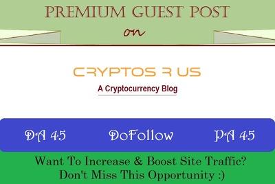 Publish An HQ Crypto Guest Post on Cryptosrus.com - DoFollow