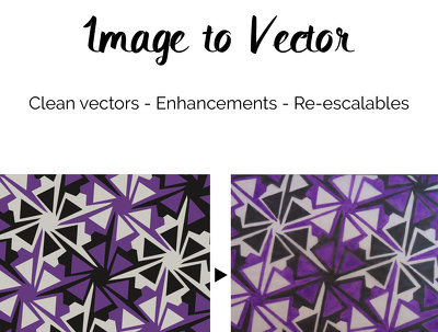 Get your image to vectors to look exactly the same