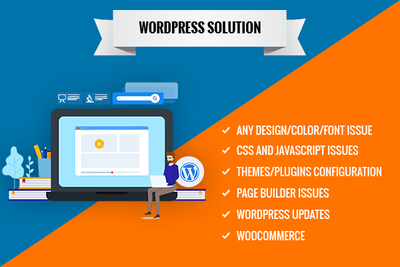 Get any WordPress Issue/Problem fixed quickly.