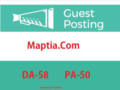 Travel Niche Guest Post On DA58+ Website Maptia.com