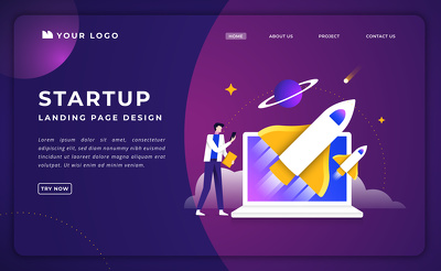 Single Page Web Design Landing Page Design with On-Page SEO