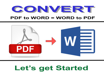 Convert Word to Pdf or Pdf to Word