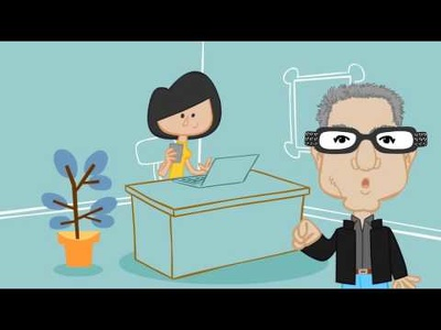 Create a 2D animated explainer video of 30 secs