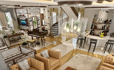 Give you 8 pictures for 3D interior design and decoration