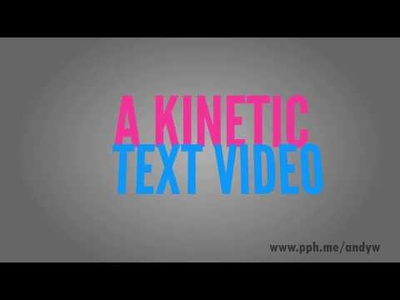 Create a typography / kinetic text video