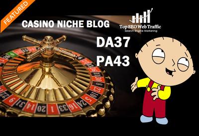 Provide Guest post on Casino niche DA37 blog