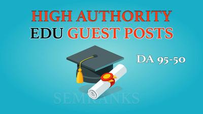 Guest Post on DA 90 EDU Site to Boost SEO