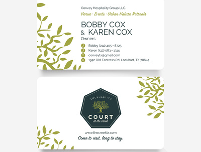 Design double sided Business Card matching to your logo