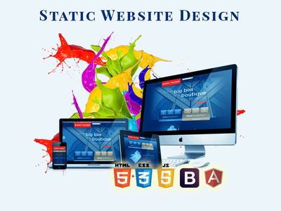 Design static 4/5 page HTML website for your business