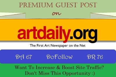Submit Guest Post on Artdaily.com, The First Art Newspaper -DR76