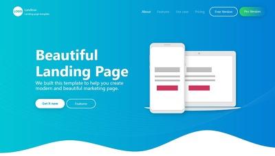 Design landing page website